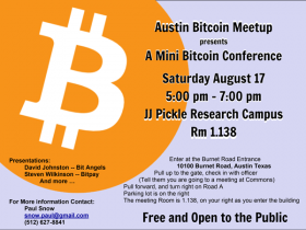 A Mini Bitcoin Conference Announced For Saturday, August 17, 2013